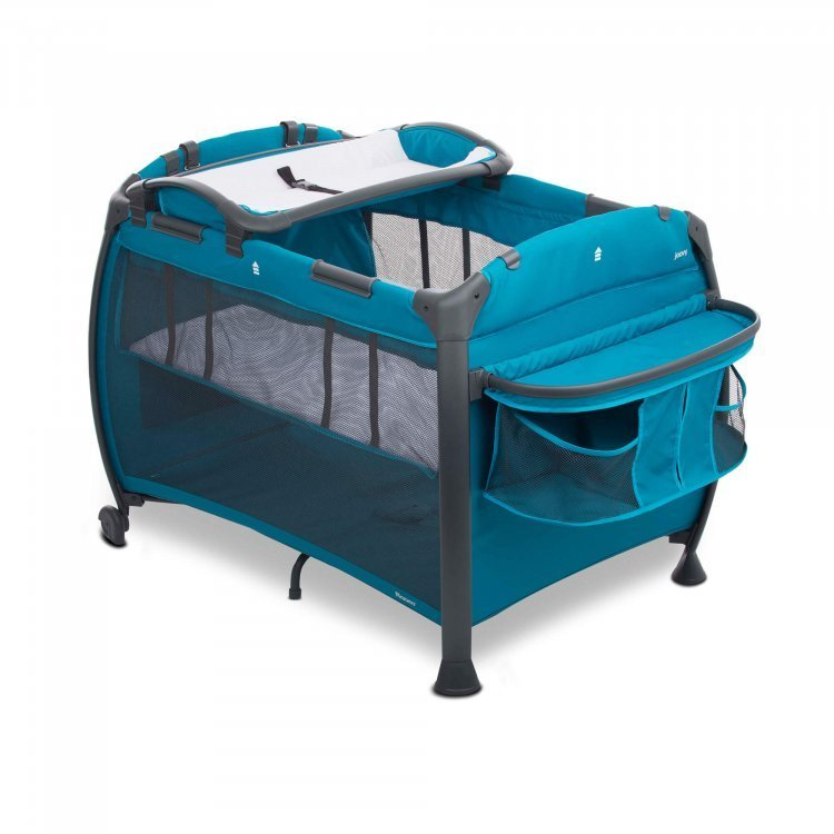 Манеж-кроватка Room New голубой от Joovy.pro