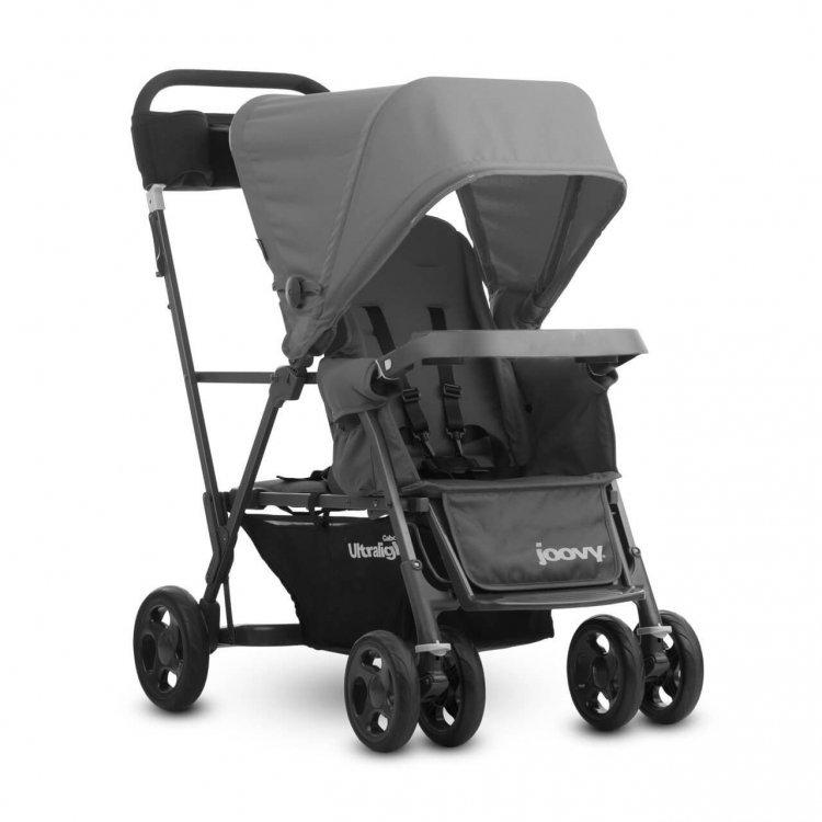 Прогулочная коляска Joovy Caboose Ultralight Graphite серый от Joovy.pro